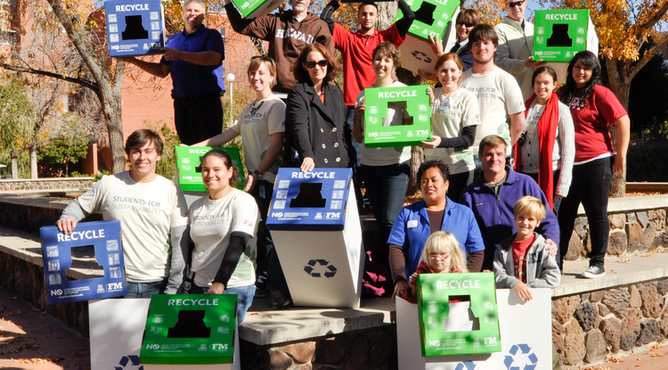 UA students transform the recycling program on campus through Students for Sustainability, a student organization focused on sustainable and environmental practices.